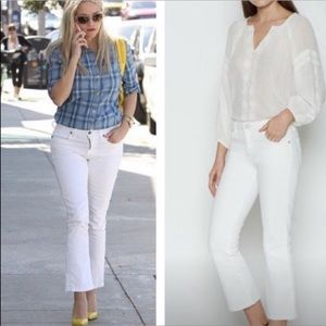 Joie Crop Flare White Porcelain Jeans 30 Like New